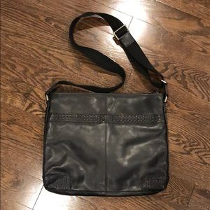 Brand new men's coach leather bag
